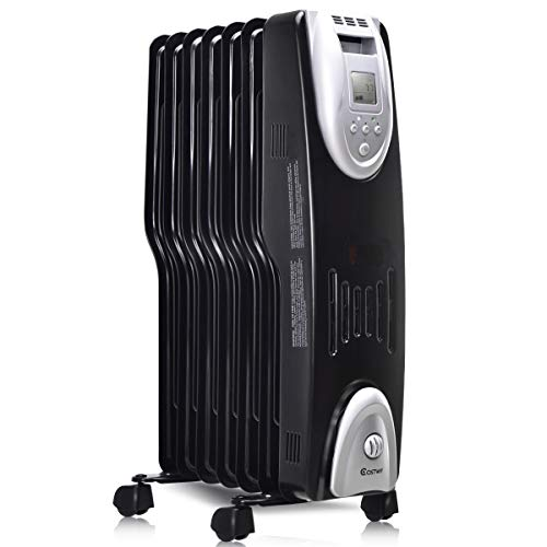 COSTWAY Oil Filled Radiator Heater, 1500W Portable...