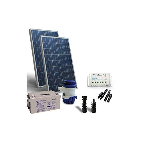 Kit Solar de Riego 126 l/m 12V Panel Solar Regulador Bomba Solar...