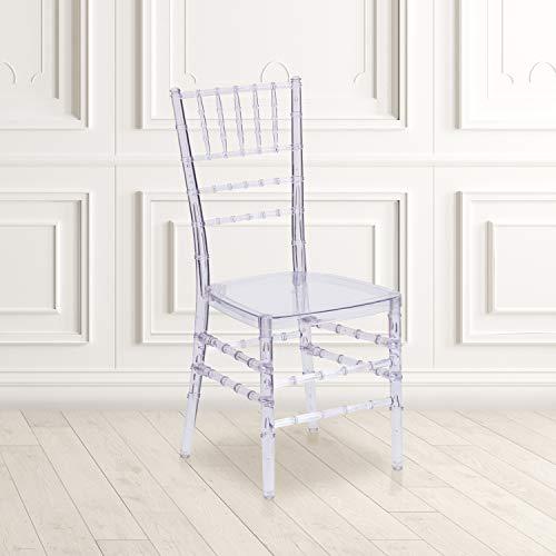 Flash Furniture 2 Pack Flash Elegance Crystal Ice Stacking Chiavari Chair