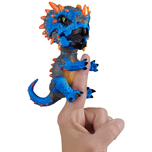Untamed Radioactive Triceratops - Whiplash (Blue) - Interactive Toy