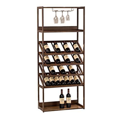 Botellero Titular Armario bodega de almacenamiento de cajas grandes estantes Capacidad soporte de almacenamiento for Bar vino del hogar del gabinete de piso enfriador de vino Bodega Vino Bastidores de