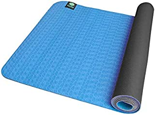 "Kulae 3mm ECOmat Yoga Mat - Eco-Friendly, Reversible, Lightweight, Non-Slip, 72""x24"""