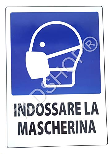 TLDSHOP® SEGNALETICA COVID-19:'Indossare la mascherina' 29,7X42 cm - PZ 1