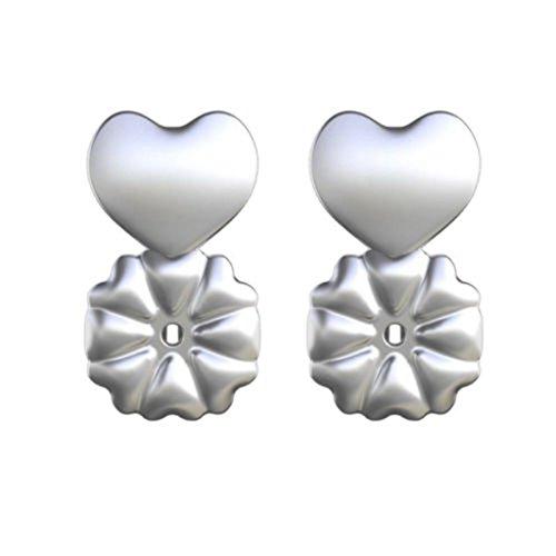 Zooarts Magic - Retro per orecchini, anallergico, adatto a qualsiasi orecchino, mantiene l'equilibrio dell'orecchino davanti e dietro., colore: 1Pair Sterling Silver, cod. SS060