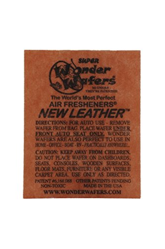 Wonder Wafers Air Fresheners 100ct. Individually Wrapped, New Leather Fragrance
