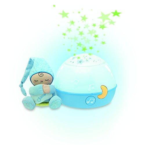 Chicco Buenas Noches Estrellitas Azul, Lámpara Bebé Multicolor con Luz Quitamiedos y Proyector de Estrellas, Proyector Infantil con Música Relajante y Peluche Extraíble – Juguetes Bebé 0+ Meses