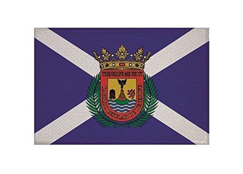 U24 Aufnäher Teneriffa Fahne Flagge Aufbügler Patch 9 x 6 cm