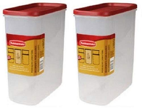 Rubbermaid 1776473 Racer Red 21 Cup Dry Food Storage Containers - Quantity 2