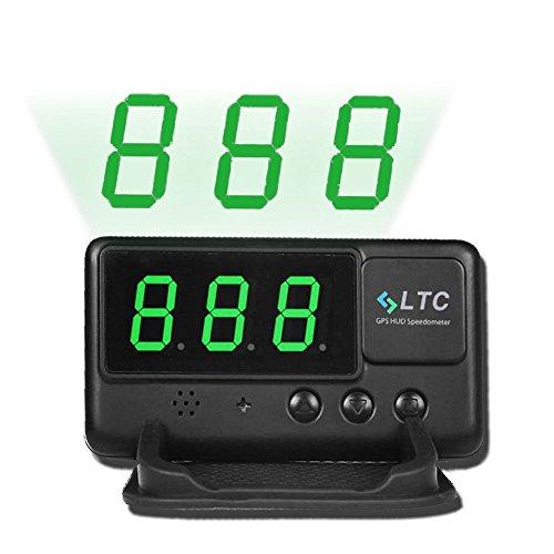LeaningTech Original Digital Universal Car HUD GPS Speedometer Overspeed Alarm Windshield Project