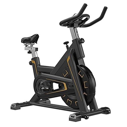 SKYWPOJU Bicicleta estática Bicicleta estática 150 kg, Bicicleta estática para Interiores, Rueda Volante de 5 kg, Pantalla LCD, reposabrazos, Acolchado