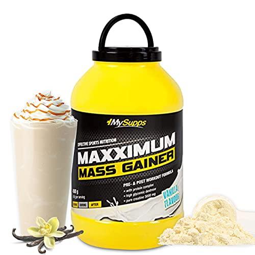 My Supps Maxximum Mass Gainer, Vaniglia, barattolo da 4,5 kg