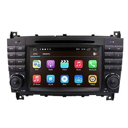 Sistema multimedia de doble Din para coche, reproductor de DVD para coche con Bluetooth, Android 10 OS, pantalla táctil de 7 pulgadas para Mercedes-Benz C-W203 (2004-2007) / CLC-W203 (2008-2010) / C
