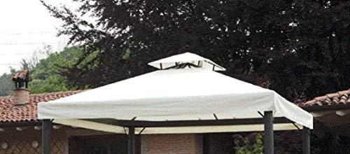 Megashopitalia Top Telo Copertura di Ricambio per Gazebo 3x3 MT con Airvent Bianco in Poliestere da 180 gr/mq