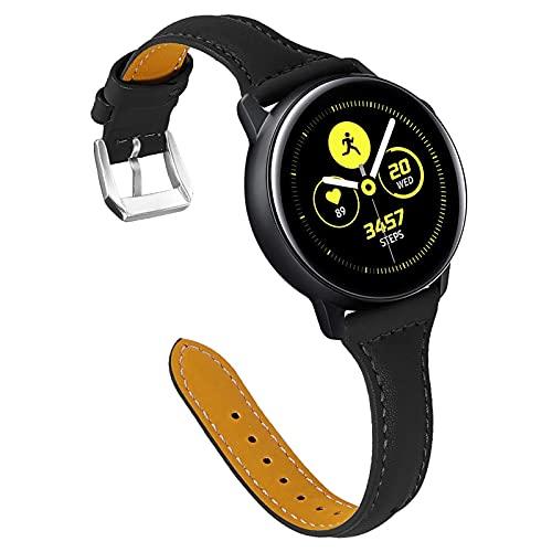 Correas de Reloj Galaxy Watch de 42 mm, Miya Slim Correa de Reloj de Cuero Genuino Mujer Hombre Compatible con Galaxy Watch 42 mm/Galaxy Watch 3 41 mm / Active2 40 mm 44 mm/Gear S2 (M2)