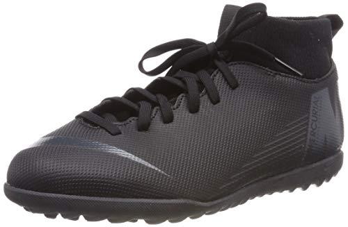 Nike Jr Superfly 6 Club TF, Zapatillas de Fútbol Unisex Adulto, Negro (Black/Black 001), 36 EU