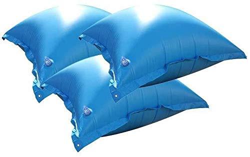 well2wellness® 3 x Pool Luftkissen, Poolkissen und Winterkissen für Abdeckplanen mit neuem Ventil und 4 Ösen