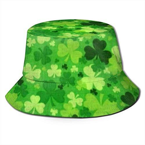 Sombrero de Cubo de Viaje con Estampado de flamencos Rosados Unisex, Gorra de Pescador de Verano, Sombrero para el Sol, trboles irlandeses
