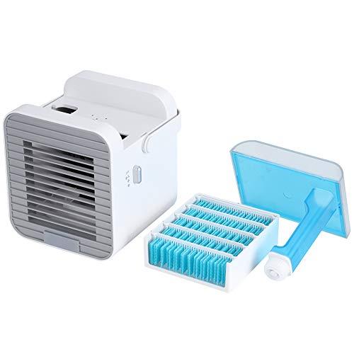 minifinker Enfriador de Aire, Ventilador de enfriamiento Ventilador de enfriamiento de Escritorio Diseño humanizado para brindar un Mejor Aire y Disfrutar del Verano Fresco