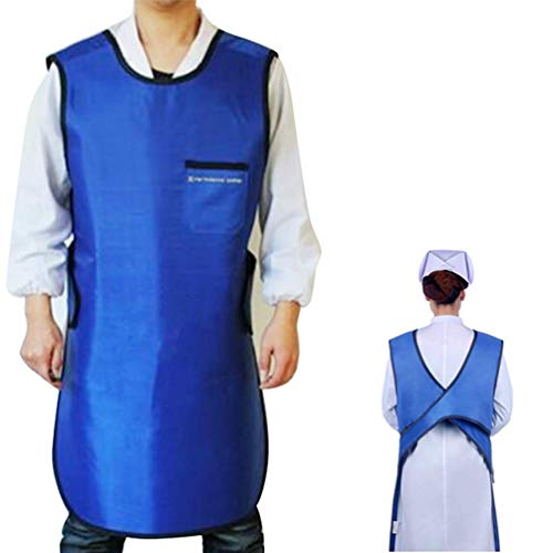 0.35mmPb No-Lead Radiation X-Ray Protection Apron Basic Light Weight Lead Free Radiology Radiation Protection Aprons and Lead Vest Cover Shield 35.4''23.6''