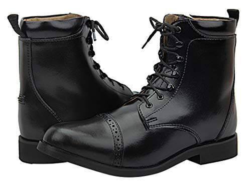 Hispar Women Ladies English Horse Riding Light Weight Leather Glory Laced Paddock Boots