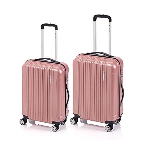 Juego de 2 maletas Neon Matt Gladiator de 65 - 100 litros (Rosa Millennial)