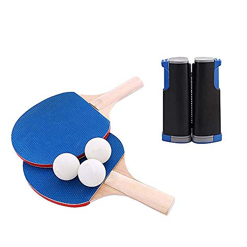 Find Bargain Bocotous Table Tennis Set All-in-One Ping Pong Set Portable Retractable Net Carrying Ba...