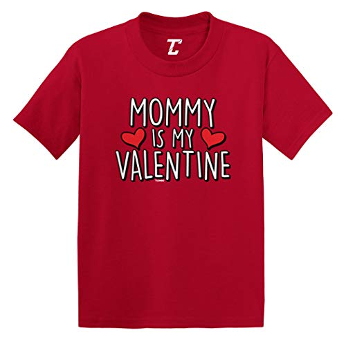Mommy is My Valentine - Cute Cupid Infant/Toddler Cotton Jersey T-Shirt (Red, 18 Months)