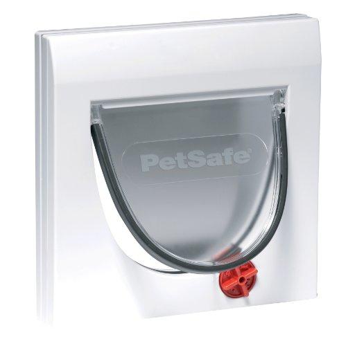PetSafe Rosewood 14536 Staywell 900 Katzenklappe mit 4-Wege-Drehverschluss, weiß - Serie 4