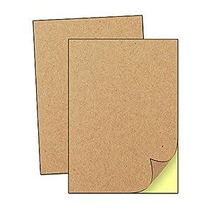 50 Hojas, A4 Kraft Marrón Pegatinas Etiquetas Adhesivas (para Imprimir) - 297 x 210 mm