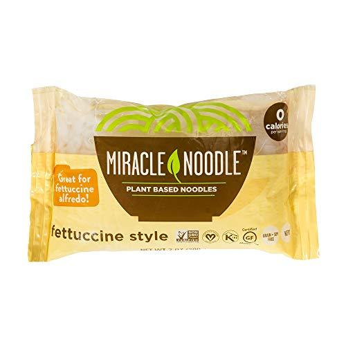 Miracle Noodle Shirataki Konjac Fettuccine Pasta, Zero Carbs, Zero Calories, Gluten Free, Soy Free, Keto Friendly, 7 oz (Pack of 6)(Packaging May Vary)