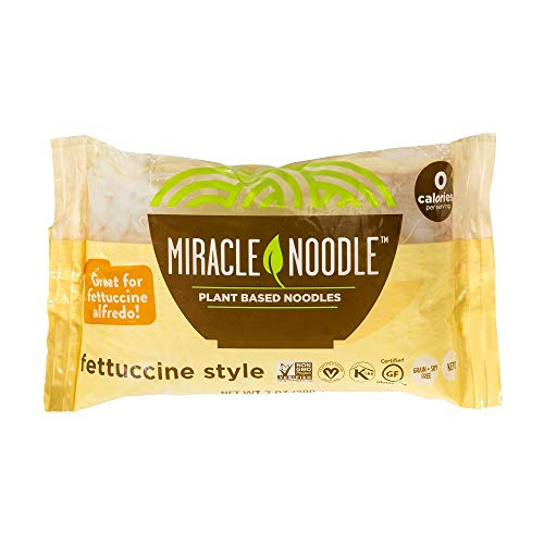 Miracle Noodle Shirataki Konjac Fettuccine Pasta, Zero Carbs, Zero Calories, Gluten Free, Soy Free, Keto Friendly, 7 oz (Pack of 6)(Packaging May Vary)