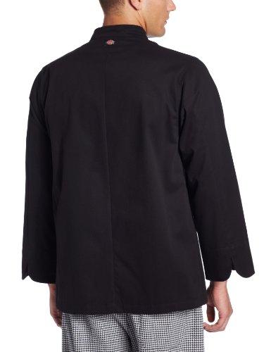 Dickies Men's Giovanni Classic Chef Coat, Black, X-Large