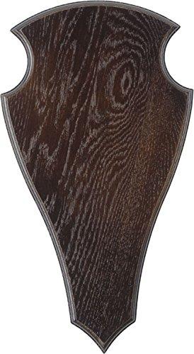 Geweihbrett für Rot und Damhirsch 40x22cm dunkel spitz