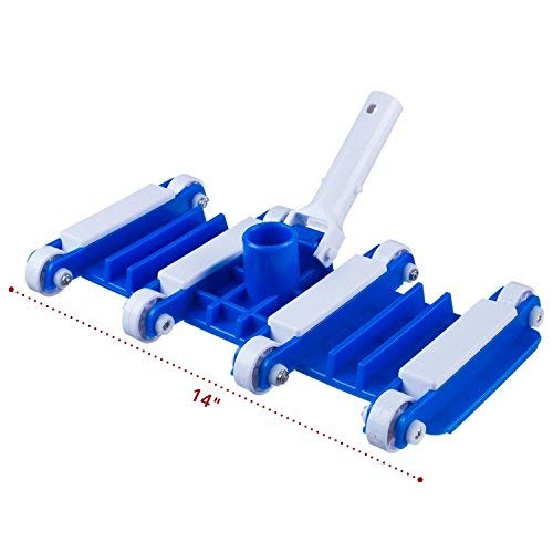 """Milliard 14"""" Flexible Spa and Pool Vacuum Head, Great for Cleaning Debris from Pool Floors"""