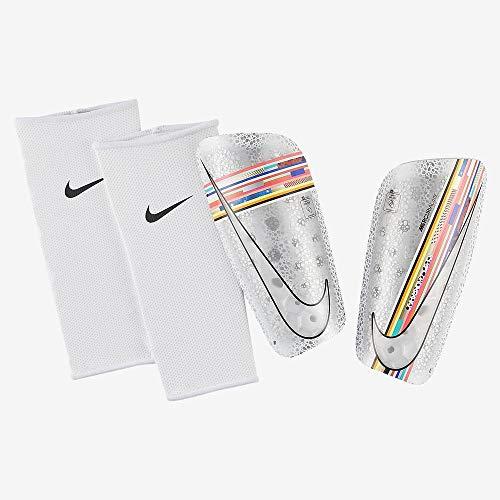 Nike Unisex– Erwachsene Mercurial Lite Schienbeinschoner, White/Multi-Color/Black/White, S