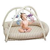 Tragbare Falten Neugeborenen Babybett Baby Nest Bett Baby Kleinkinder Baumwolle Schwellen Krbe Kindergarten Reisebett Fr Baby, 89X55x13cm (Innenma 78X35x13cm),Crib