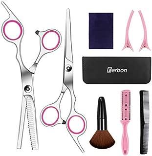 8 Pcs Hair Cutting Scissors Set Hairdressing Scissors Kit,Thinning Scissor,Bangs artifact,Hair Comb,Leather Scissors Case,Professional Barber Salon Home Shear Kit For Men Women Pet