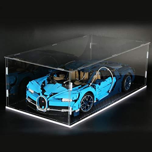 OATop Baustein Acryl Display Box, Staubdichte Display Case für Lego 42083 Technic Bugatti Chiron GT3 (Vitrine Schaukasten Nur im Lieferumfang Enthalten, kein Lego Kit)