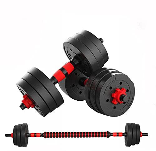 Vetrineinrete® Set Coppia di manubri e bilanciere con Dischi e Barra di Collegamento 10 15 20 30 40 kg Allenamento Fitness Sport Bodybuilding (15 KG) P7