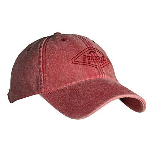 Fumarel Gorra Clásica Vintage Golf Tenis Náutica Caza Ajustable de Algodón Lavado - Classic Baseball Cap Hat - Rojo Fresa Lavado
