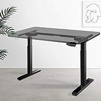 Artiss Height Adjustable Standing Desk Frame Motorised Electric Heavy Duty Dual Motors Home Office Workstation Black -...
