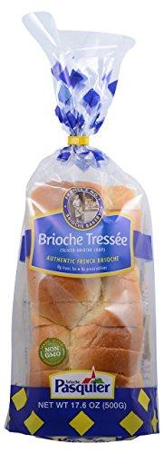 Brioche Pasquier - Authentic French Brioche Tressee Bread Sliced Loaf, 17.6oz (500g) (2-PACK)