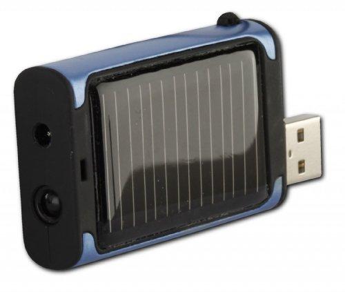 PowerPlus Beetle Solaire d'Urgence Chargeur pour téléphones Portables/PDA/Lecteur MP3 Bleu.