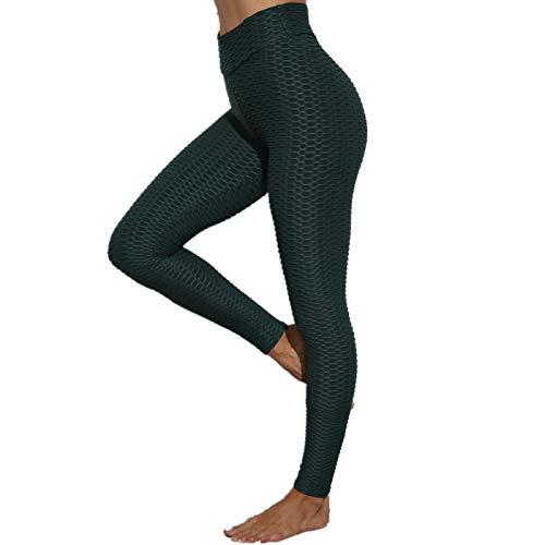 NIGHTMARE Pantalones de Yoga para Mujer con Cintura Alta Control de Barriga Entrenamiento Correr Estiramiento Leggings de Yoga Pantalones de Yoga Correr L