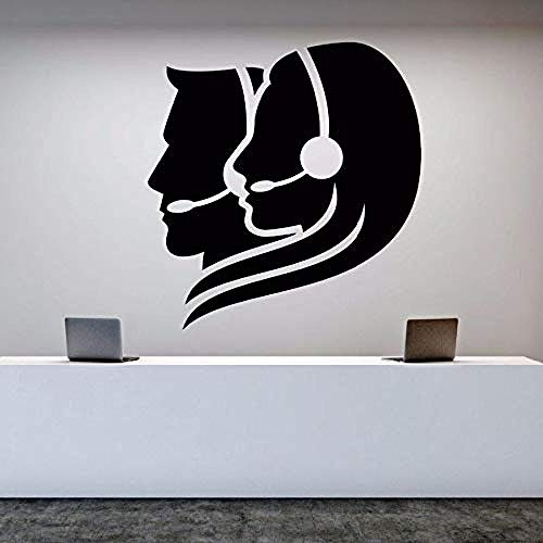 Wall Decal Vinyl Removable Call Center Operator Wall Sticker Office Worker Stickers Room Decoration Art Mural Office Decor 57 * 60cm