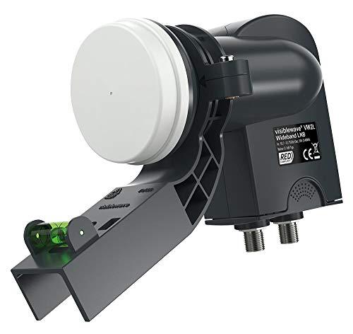 Doble salida de banda ancha Lnb con abrazadera, gama de productos LNBs de onda visible, equipo de antena y satélite