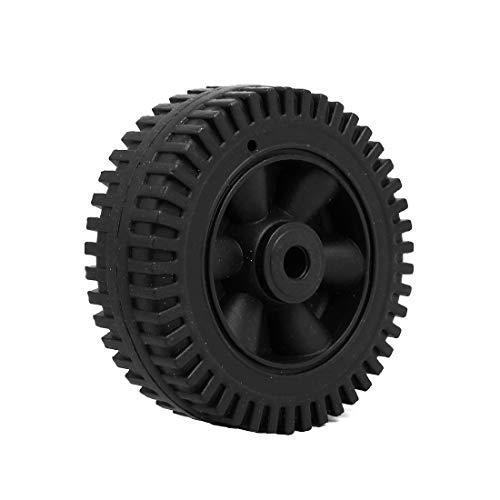 New Lon0167 150mm 6-inch Featured Dia 12.5mm Inner reliable efficacy drills holes Plastic Air Compressor Wheel Black(id:770 4c cf 59b)