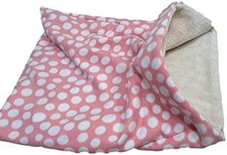 Weenie Warmers Pink Dot Sherpa Lined Dog Cat Bed Sleeping Bag