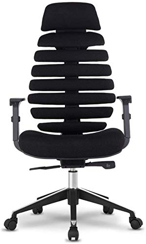 BeingHD Qualitätsbürostuhl, Bürostuhl mit Armlehne Bürostuhl Mesh Chair Einstellbar Rotary Computer Schreibtisch und Stuhl, Gaming Chair High Back Ergonomischer Executive Chair (Color : Black)