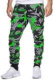 OneRedox Herren Jogging Hose Jogger Streetwear Sporthose Modell 794 Grün XL